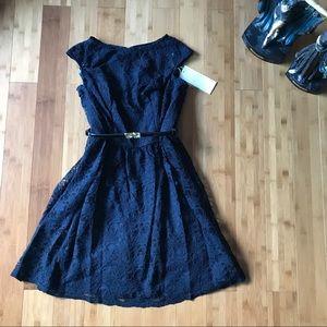 Gather & Gown designer dress size 10 navy